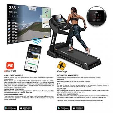 Orion Fitness Sprint C6 Laufband klappbar elektrisch bis 150kg, Bluetooth, FitShow, Kinomap automatische Steigung auf 15 Ebenen,LED-Computer, 1-20km/h, Motor mit 4PS(5PS), Laufgurtfläche 140 * 50cm - 3