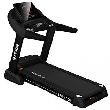 Orion Fitness Sprint C6 Laufband klappbar elektrisch bis 150kg, Bluetooth, FitShow, Kinomap automatische Steigung auf 15 Ebenen,LED-Computer, 1-20km/h, Motor mit 4PS(5PS), Laufgurtfläche 140 * 50cm - 1