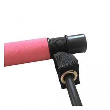 oufeng Multifunktionale Pilates-Stange, tragbar, Körperformung, Klimmzug, Fitness, Widerstandstraining, Yoga, Rallye-Stange (Pink) - 2