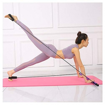 oufeng Multifunktionale Pilates-Stange, tragbar, Körperformung, Klimmzug, Fitness, Widerstandstraining, Yoga, Rallye-Stange (Pink) - 5