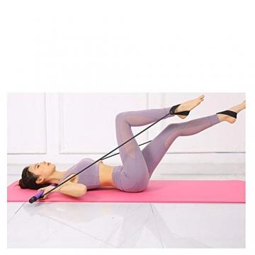 oufeng Multifunktionale Pilates-Stange, tragbar, Körperformung, Klimmzug, Fitness, Widerstandstraining, Yoga, Rallye-Stange (Pink) - 6