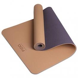 PIDO Yogamatte, leichte Reise-Yogamatte, rutschfeste Fitnessmatte, Pilates- und Gymnastik-Stretching-Matte, 183 x 61 x 0,6 cm - 1