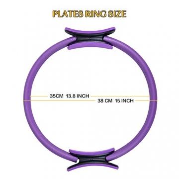 Pilates Ring Magic Circle, Yoga Ring mit 2 rutschfesten Griffen Pilates Circle Gewichtsverlust Körperstraffung Pilates Ringe 38cm - 4