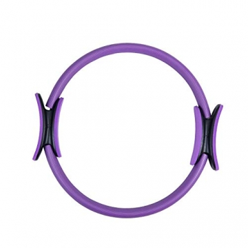 Pilates Ring Magic Circle, Yoga Ring mit 2 rutschfesten Griffen Pilates Circle Gewichtsverlust Körperstraffung Pilates Ringe 38cm - 1