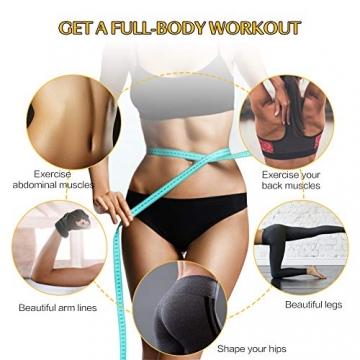 Pilates Ring Magic Circle, Yoga Ring mit 2 rutschfesten Griffen Pilates Circle Gewichtsverlust Körperstraffung Pilates Ringe 38cm - 5