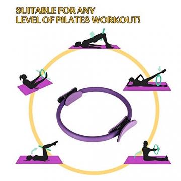 Pilates Ring Magic Circle, Yoga Ring mit 2 rutschfesten Griffen Pilates Circle Gewichtsverlust Körperstraffung Pilates Ringe 38cm - 6