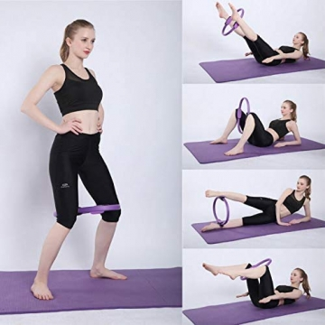Pilates Ring Magic Circle, Yoga Ring mit 2 rutschfesten Griffen Pilates Circle Gewichtsverlust Körperstraffung Pilates Ringe 38cm - 7