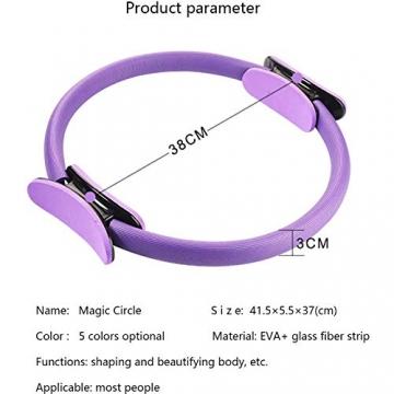 Pilates Ring,Pilates Circle,Widerstandsring Loop,Yoga Circle, Halloween Pilates Circle,Doppelgriff Pilates Yoga Ring 39 cm Übungskreis für Fettverbrennung Stärkung der Inneren und äußeren Oberschenkel - 2
