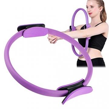Pilates Ring,Pilates Circle,Widerstandsring Loop,Yoga Circle, Halloween Pilates Circle,Doppelgriff Pilates Yoga Ring 39 cm Übungskreis für Fettverbrennung Stärkung der Inneren und äußeren Oberschenkel - 1