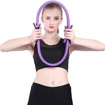 Pilates Ring,Pilates Circle,Widerstandsring Loop,Yoga Circle, Halloween Pilates Circle,Doppelgriff Pilates Yoga Ring 39 cm Übungskreis für Fettverbrennung Stärkung der Inneren und äußeren Oberschenkel - 8