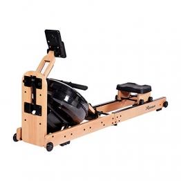 Reehut Faltbares Rudergerät für Zuhause, Wasser Rudergerät Waterrower mit Bluetooth, Kostenloser App und LCD - Bildschirm, Holz Klappbares Rudergerät mit 18L Wassertank Rowing Machine - 1