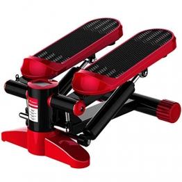 RLF LF Elliptische Trainingsmaschinen Mit Zugseil, Super Sound-Off Zuhause An Ort Und Stelle Bewegung Stepper Fitness Hydraulische Puffer-In-Situ-Pedalmaschine,Rot - 1