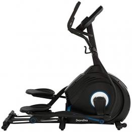 skandika Crosstrainer CardioCross Conqueror, Premium Ellipsentrainer | 25kg Schwungmasse, App-Kompatibel mit Kinomap, 31 Programme, 32 Stufen, 4 Profile, Pulsmessung, Höhenverstellung | max. 150kg - 1
