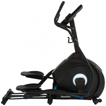 skandika Crosstrainer CardioCross Conqueror, Premium Ellipsentrainer   25kg Schwungmasse, App-Kompatibel mit Kinomap, 31 Programme, 32 Stufen, 4 Profile, Pulsmessung, Höhenverstellung   max. 150kg - 1
