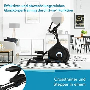 skandika Crosstrainer CardioCross Conqueror, Premium Ellipsentrainer   25kg Schwungmasse, App-Kompatibel mit Kinomap, 31 Programme, 32 Stufen, 4 Profile, Pulsmessung, Höhenverstellung   max. 150kg - 5