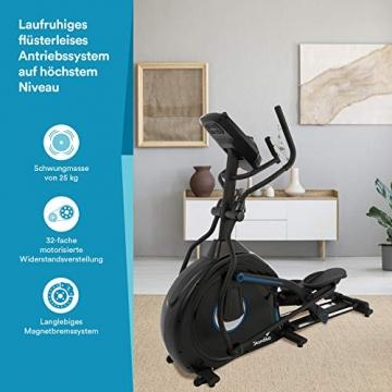 skandika Crosstrainer CardioCross Conqueror, Premium Ellipsentrainer   25kg Schwungmasse, App-Kompatibel mit Kinomap, 31 Programme, 32 Stufen, 4 Profile, Pulsmessung, Höhenverstellung   max. 150kg - 6