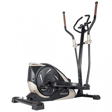 skandika Crosstrainer Eleganse/Adrett   Design Hometrainer mit Bluetooth, App-Steuerung (z.B. Kinomap), Tablethalterung, Magnetbremssystem, 12kg Schwungmasse, 32 Stufen   bis 130kg - 1