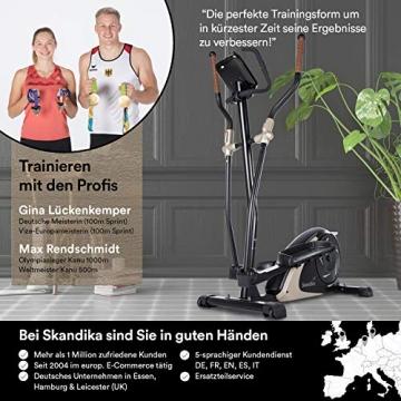 skandika Crosstrainer Eleganse/Adrett   Design Hometrainer mit Bluetooth, App-Steuerung (z.B. Kinomap), Tablethalterung, Magnetbremssystem, 12kg Schwungmasse, 32 Stufen   bis 130kg - 5