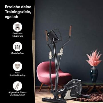 skandika Crosstrainer Eleganse/Adrett   Design Hometrainer mit Bluetooth, App-Steuerung (z.B. Kinomap), Tablethalterung, Magnetbremssystem, 12kg Schwungmasse, 32 Stufen   bis 130kg - 6