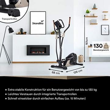 skandika Crosstrainer Eleganse/Adrett   Design Hometrainer mit Bluetooth, App-Steuerung (z.B. Kinomap), Tablethalterung, Magnetbremssystem, 12kg Schwungmasse, 32 Stufen   bis 130kg - 7