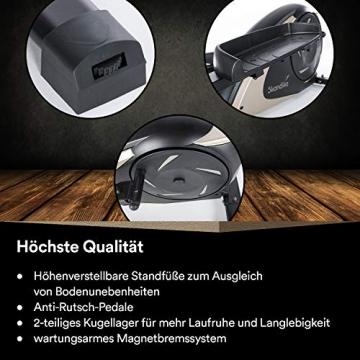 skandika Crosstrainer Eleganse/Adrett   Design Hometrainer mit Bluetooth, App-Steuerung (z.B. Kinomap), Tablethalterung, Magnetbremssystem, 12kg Schwungmasse, 32 Stufen   bis 130kg - 8