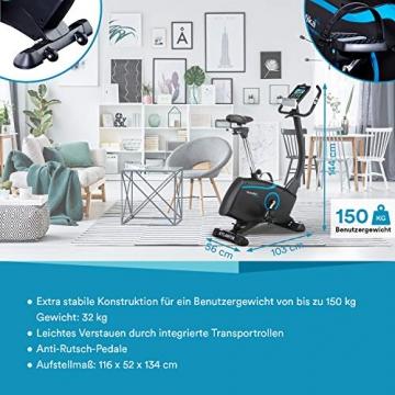 skandika Ergometer Fahrrad Atlantis   Heimtrainer mit App Steuerung (Kinomap, iConsole), Bluetooth, 10kg Schwungmasse, Puls und Körperfettmessung, 32 Stufen, geräuscharm, Transportrollen   bis 150kg - 3