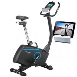 skandika Ergometer Fahrrad Atlantis | Heimtrainer mit App Steuerung (Kinomap, iConsole), Bluetooth, 10kg Schwungmasse, Puls und Körperfettmessung, 32 Stufen, geräuscharm, Transportrollen | bis 150kg - 1