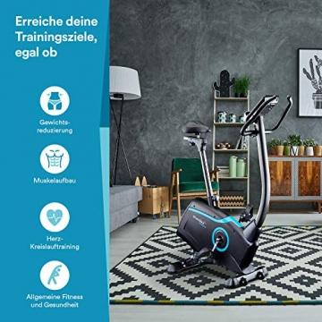 skandika Ergometer Fahrrad Atlantis   Heimtrainer mit App Steuerung (Kinomap, iConsole), Bluetooth, 10kg Schwungmasse, Puls und Körperfettmessung, 32 Stufen, geräuscharm, Transportrollen   bis 150kg - 6