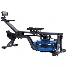 skandika Wasser-Rudergerät Nemo II/III/Compact, Water Ruderzugmaschine mit regulierbarem Wasserwiderstand, Rower mit 130/150 kg Benutzergewicht (Nemo Compact) - 1