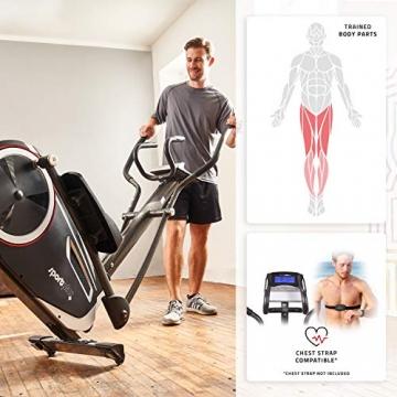 SportPlus Crosstrainer für zuhause - 24 Stufen & 24 Trainingsprogramme, Ergometer mit App Steuerung (u.a. Kinomap), ca. 17 kg Schwungmasse, Sicherheit geprüft bis 150 kg, SP-ET-9600-iE - 3