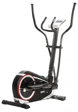 SportPlus Crosstrainer für zuhause - 24 Stufen & 24 Trainingsprogramme, Ergometer mit App Steuerung (u.a. Kinomap), ca. 17 kg Schwungmasse, Sicherheit geprüft bis 150 kg, SP-ET-9600-iE - 1
