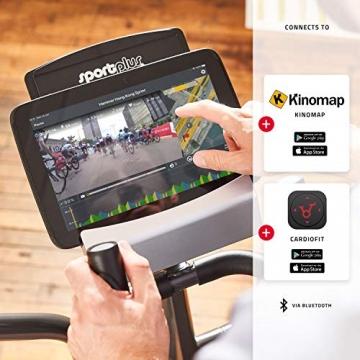SportPlus Crosstrainer für zuhause - 24 Stufen & 24 Trainingsprogramme, Ergometer mit App Steuerung (u.a. Kinomap), ca. 17 kg Schwungmasse, Sicherheit geprüft bis 150 kg, SP-ET-9600-iE - 6