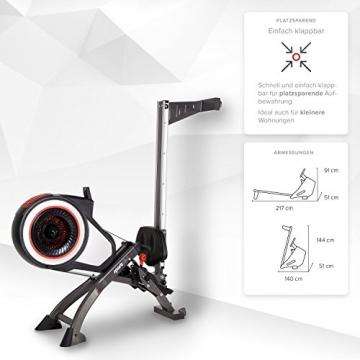 SportPlus Rudergerät mit Luftwiderstand (8 Stufen) - klappbar & mit Rollen, Rudermaschine für zuhause bis 150 kg, geprüfte Sicherheit, SP-MR-010 - 6