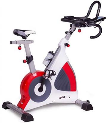 SportPlus Speedracer, TÜV-geprüft, Indoor Cycling Bike in Studioqualität, 50 Widerstandsstufen, Triathlonlenker & Rennsattel, Ergometer bis 500 Watt, Benutzergewicht bis 150 kg, SP-SRP-3000 - 1