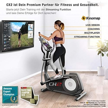 Sportstech CX2 Crosstrainer für Zuhause | mit Stromgenerator | Deutsches Qualitätsunternehmen | Interaktive Video-Events & Multiplayer-App | Ellipsentrainer, Ergometer + Konsole & 27 kg Schwungmasse - 3