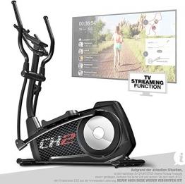 Sportstech CX2 Crosstrainer für Zuhause | mit Stromgenerator | Deutsches Qualitätsunternehmen | Interaktive Video-Events & Multiplayer-App | Ellipsentrainer, Ergometer + Konsole & 27 kg Schwungmasse - 1