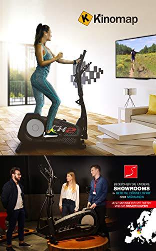 Sportstech CX2 Crosstrainer für Zuhause | mit Stromgenerator | Deutsches Qualitätsunternehmen | Interaktive Video-Events & Multiplayer-App | Ellipsentrainer, Ergometer + Konsole & 27 kg Schwungmasse - 5