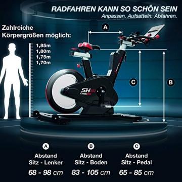 Sportstech Elite Indoor Cycle Bike   Deutsches Qualitätsunternehmen   Video Events & Multiplayer App   computergesteuertes Magnetbremssystem + 26kg Masse   Speedbike Ergometer + Sportlenker   SX600 - 5