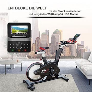Sportstech Elite Indoor Cycle Bike   Deutsches Qualitätsunternehmen   Video Events & Multiplayer App   computergesteuertes Magnetbremssystem + 26kg Masse   Speedbike Ergometer + Sportlenker   SX600 - 6