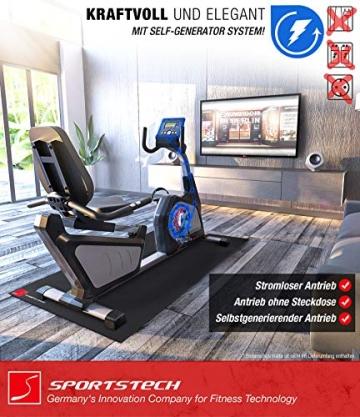 Sportstech ES600 Profi Ergometer   Deutsches Qualitätsunternehmen   Video Events & Multiplayer App   integrierter Stromgenerator & HRC   Pulsgurt optional   Liegeergometer + ergonomischer Sitzkomfort - 2