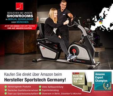 Sportstech ES600 Profi Ergometer   Deutsches Qualitätsunternehmen   Video Events & Multiplayer App   integrierter Stromgenerator & HRC   Pulsgurt optional   Liegeergometer + ergonomischer Sitzkomfort - 3