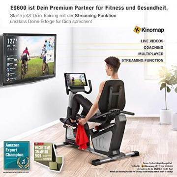 Sportstech ES600 Profi Ergometer   Deutsches Qualitätsunternehmen   Video Events & Multiplayer App   integrierter Stromgenerator & HRC   Pulsgurt optional   Liegeergometer + ergonomischer Sitzkomfort - 4