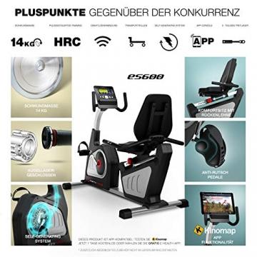 Sportstech ES600 Profi Ergometer   Deutsches Qualitätsunternehmen   Video Events & Multiplayer App   integrierter Stromgenerator & HRC   Pulsgurt optional   Liegeergometer + ergonomischer Sitzkomfort - 5