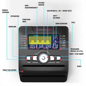 Sportstech ES600 Profi Ergometer   Deutsches Qualitätsunternehmen   Video Events & Multiplayer App   integrierter Stromgenerator & HRC   Pulsgurt optional   Liegeergometer + ergonomischer Sitzkomfort - 7