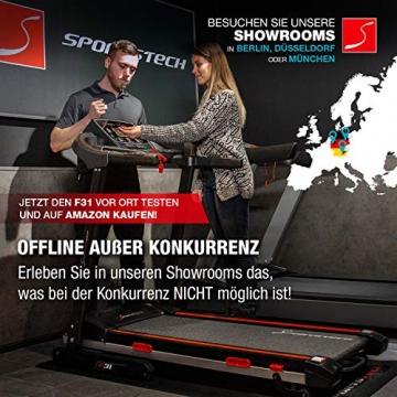 Sportstech F31 Profi Laufband   Deutsches Qualitätsunternehmen   Video Events & Multiplayer App auf LCD Monitor   Smartphone kompatibel   4PS bis 16km/h   Heimtrainer klappbar & kompakt verstaubar - 4