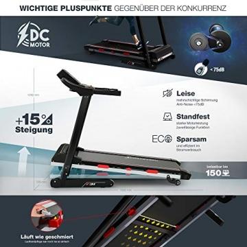 Sportstech F31 Profi Laufband   Deutsches Qualitätsunternehmen   Video Events & Multiplayer App auf LCD Monitor   Smartphone kompatibel   4PS bis 16km/h   Heimtrainer klappbar & kompakt verstaubar - 7
