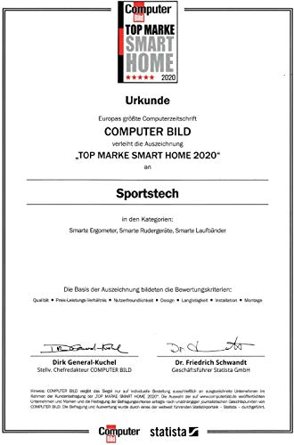 Sportstech F31 Profi Laufband   Deutsches Qualitätsunternehmen   Video Events & Multiplayer App auf LCD Monitor   Smartphone kompatibel   4PS bis 16km/h   Heimtrainer klappbar & kompakt verstaubar - 8