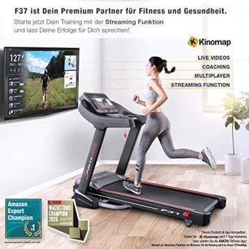Sportstech F37 Profi Laufband-Deutsche Qualitätsmarke- Selbstschmiersystem,APP Kinomap, 7PS bis 20 km/h. Bluetooth MP3, HRC- Klappbar, große Lauffläche, TÜV/GS, Pulsgurt im Wert von 49,9EUR, bis 150kg - 6