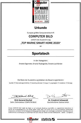 Sportstech F37 Profi Laufband-Deutsche Qualitätsmarke- Selbstschmiersystem,APP Kinomap, 7PS bis 20 km/h. Bluetooth MP3, HRC- Klappbar, große Lauffläche, TÜV/GS, Pulsgurt im Wert von 49,9EUR, bis 150kg - 9