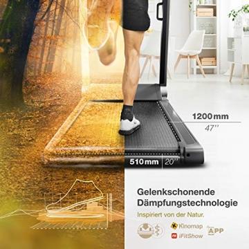 Sportstech FX300 Ultra Slim Laufband   Deutsches Qualitätsunternehmen   Video Events, Multiplayer App & USB Ladeport   Riesen Lauffläche 51x122cm & kein Aufbau   16 km/h Spitze   Pulsgurt kompatibel - 5